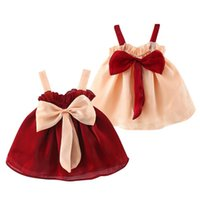 Girl's Dresses Big Bow Baby Girl Clothes A-Line Priness Toddler Girls Dress Infant Summer Party Birthday For 9M-24M