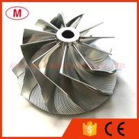 RHF55HB 93844S 47.20 / 60.00mm 11 + 0 Klingen Performance Turbolader Aluminium / Fräsen / Turbo Billet Compressor Rad für Subaru EJ20 VF22 Kassette / Chra / Kern