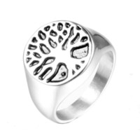Нежное кольцо с жизнью с жизнью титана сталь из нержавеющих украшения из нержавеющей стали