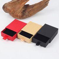 Gaveta 8 * 7 * 3cm gaveta luxo com brinco caixa de esponja com colar de caixa de exposição para elegante embalagem jóias fita edrcb