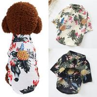 Fashion Dog Cat Floral Shirt Small Pet Top Puppy Clothes Spring Summer Hawaiian Beachwear Cute Casual Apparel Costume Vest