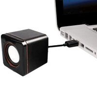 1 Pair Mini Portable USB Wired Computer Speakers Audio Music Player Square Speaker Compact 3.5mm Jack Laptop Computer