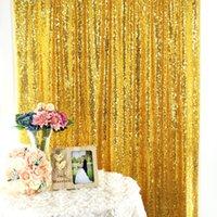 Сторона украшения роскошные розовые золотые блестки фона Поголовный фон ткань PO студия свадьба рождения стрельба фона занавес