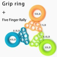 DHL Shiping Silicone Hand Grips Set Grip Ring Strengthener Wrist Finger Heavy Exerciser Strength Muscle Recovery Gripper Trainer Release Stress CO14