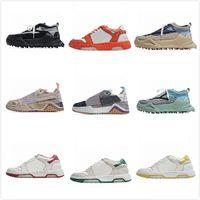Fuera de los hombres zapatos blancos zapatillas negras arrow Sharp esquina fondo de costura color mujer diseñador calle moda odsy-1000 casual calzado