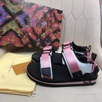 Ребенок 2021 роскошные женские сандалии дизайнеры повседневные ботинки летние пляжные на открытом воздухе леди бренда сандалии высокого качества на липучке Обувь на липучке аркада не скользкие плоские кроссовки