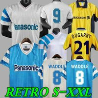 1990 Watchdle Retro Home Fussball Jersey 91 92 93 98 99 Olympique de Marseille Away Desailly Cantona Papin Classic Return Football Shirt