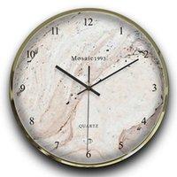 Horloges murales Art Marble Horloge moderne Design Silent Montre unique Nordic Numérique Wand Klok Salon Décoration 40ch19