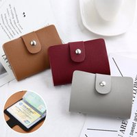 Nova Função de Couro PU 24 Bits Caixa Cartão De Visita Titular Homens Mulheres Crédito Passaporte Cartão Bag ID Passaporte Wallet H088