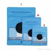S M L 3 أحجام 28 جرام 7 جرام 3.5 جرام الأزرق كوكيس سستة أكياس رائحة الصمغ التعبئة والتغليف الوقوف الحقائب الجافة عشب الطفل والدليل