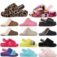 Kutu ile Disko 2021 Dama Tasarımcısı Kar Scuffette II Kadın Klasik Kabarcık Fuzz Evet Slayt Ayakkabı Bayan Kız Lady Kış Düz Wgg 35-42 32g8