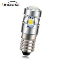 1Pcs E10 Screw Bulb LED Old Replacement 500Lm Bicycle Engine Torch Lighting Nopolar 6000K 4300K 3V 4.5V 6V Emergency Lights