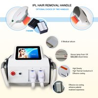 CE Approved IPL Nd Yag Laser Tattoo Hair Removal Multiple SHR light photo facial pigments Treatment with 2 Handlepieces