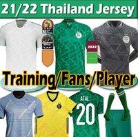 21/22 Algerie Soccer Jerseys 2021 Fans Versión del jugador Mahrez Brahimi Bennacer 19 20 2 Star Argelia Jersey Hombres Niños Maillot De Fútbol Camisas Training Uniform Thai