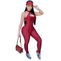 Tmustobe Skinny Women Rompers Streetwear Bodycon 스택 단단한 니트 Jumpsuit 여름 섹시 민소매 Tracksuit Jumpsuit 여성