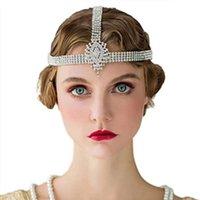 Hair Clips & Barrettes Fashion Elegant Rhinestone Head Chain Bridal Accessories Bohemia Forehead Crystal Headband For Women Jewelry