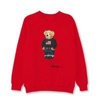 Venta al por mayor American Bear Print Polo Shirt Camiseta Camiseta de manga larga para hombre Pullover de manga larga Moda Cuello redondo S-XXL