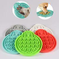 Cat Dog Silica gel Bowls Pet Food Mat Lick Pad