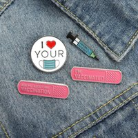 Pins, Brooches Scientific Reagents Enamel Pins Custom Love & Peace Brooch Lapel Badge Cartoon Gifts For Kids Friends Wholesale
