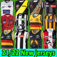 2020 AFL Jersey Geelong Gatos Gold Coast Essendon Bombers Adelaide Corvos Collingwood West Coast Eagles Guernsey Rugby Jerseys League Singlet