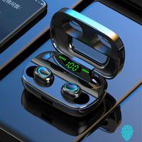 S11 TWS 5.0 سماعة بلوتوث 1200mAh بقيادة سماعات بلوتوث لاسلكية سماعات سماعات سماعات TWS TWS Touch Control الرياضة الضوضاء إلغاء أسود أبيض