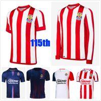 20 21 Thailandia Chivas Soccer Jerseys 115th 2021 Liga MX Guadalajara Home Away Brizuela 115 anni Camicia da calcio Uniformi
