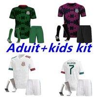 Мексика футбольные трикотажные майки Copa America CamiSetas 20 21 Chicharito Lozano Dos Santos Moreno Alvarez Guardado 2021 футболки мужские + детские наборы