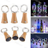 Cuerdas de LED Powered Wine Bottle Lights 10led 20LED Botellas Brillantes Cork Light Cape de alambre de cobre para la fiesta de Navidad Boda Halloween EUB