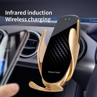 NEW V3 Car Air Vent Wireless Charger 15W Quick Charge Qi Infrared Sensor Phone Holder Accessories Auto-sensing Universal Car Phone Holder