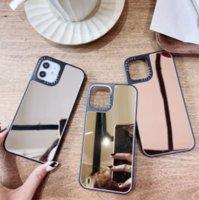 Ins leopardo padrão animal espelho caso para iphone 12 13 pro se 2020 7 8 plus 11 xs max x xr capa de luxo iphone13 coque