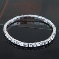 Tennis Bridal jewelry zircon rhinestone forest Korean version of simple and versatile elastic bracelet