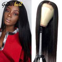 الرباط الباروكات 13x4 مستقيم إغلاق الجبهة الباروكة 150٪ الكثافة ريمي الإنسان الشعر للنساء السود 30 بوصة كاملة HD شفافة أمامي واي