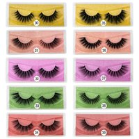 Thick Natural Long 3D False Eyelashes Extension Soft & Vivid Reusable Hand Made Fake Lashes Makeup For Women Beauty Cute Color Sticker Packing 10 Models DHL
