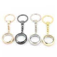 Medaglione galleggiante in lega rotonda Keychain MAGNETC 30mm Glass Locket Portachiavi Jewelry, Accetta Personalizzazione 606 Z2