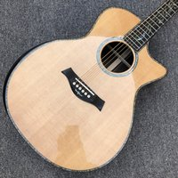 """Fabrik benutzerdefinierte, massive fichte top chaylor sP14 akustische Gitarre, 41 """"echte Abalone Goldene Tuner PS14ce Gitarre, Ebenholz-Griffbrett, Rosenholz-Rücken und Seiten"""