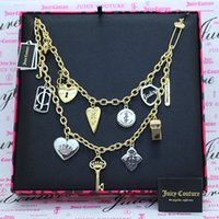 Luxury Light Luxury Tide Love Circle Brand Crown Whistle Flower Key Pin Multi Pendant Tassel Double-layer Necklace Clavicular Chain Female