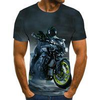 2021 Jerseys de fútbol gráfico de la motocicleta Tops de viento punk 3D Racer Mens T-shirt Summer Fashion O-cuello Camisa más tamaño StreetwearSoccer Jersey