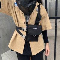 Taktik Yelek Streetwear Çanta Erkekler Için Hip Hop Göğüs Teçhizat Bel Ayarlanabilir Çoklu Cepler Tuval Erkekler Paketi Çanta