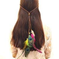 Bohemian Wind Peacock Feather Headband Fashion Ethnic Style Katyusha Girl Student Fiara For Travel Anniversary 3 89zf T2