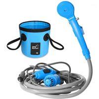 Bathroom Shower Sets DC 12V Portable Car Washer Set High Pressure Electric Pump Sprayer Tool For Outdoor Travel Camping Pet1