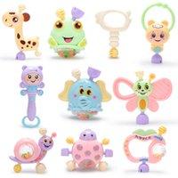 6PC-10PC / комплект Монтессори игрушки для прорезывания зубов дети образовательные кроватки мобильные детские Tehher игрушка для девочек Waldorf погремушка игрушка младенца 1096 y2