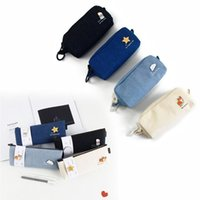 Pencil Bags Triangle Zipper Large Capacity Cases Pencils Pouch Stationery Dropship