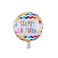 Venta al por mayor Globos de cumpleaños de 18 pulgadas 50pcs / lote Balloons de aluminio de aluminio Decoraciones de la fiesta de cumpleaños 274 U2