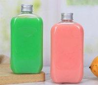Выплеск оптом Одноразовые Одноразовые ПЭТ 400 мл Простые прозрачные Уплотнительные Пластиковые Бутылки Фруктовый Сок Молочный Чай Бутылка напитков HWF6365