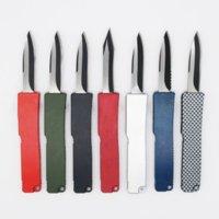 8 Modelle Mini Schlüssel Schnalle Taschenmesser Aluminium Doppel Action Taktische Selbstverteidigung Falten EDC Messer Camping Messer Taschenwerkzeug