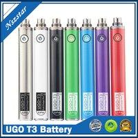 UGO T3 1300mAh 510 Gewindebatterievariable Spannung Vaporizer Vape Stift Vorheizbatterie mit Dual Charge Port Ecigarette