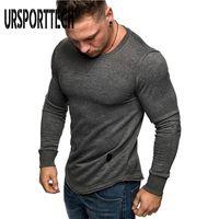 T-shirts Hommes Ursportech Mode T-shirt à manches longues Spring Automne Casual Vintage Vintage Slim Tops Blouse Homme Tshirt M-3XL