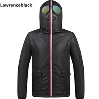 Jacket Men Hood With Glasses personality Wear Hunting Outdoor Coats Male Outerwear Tactical Motorcycle Cycling windbreaker 211015