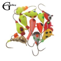 2Pcs Ant Eggs Shaped Tungsten Ice Fishing Jig Japan Hook Winter Baits Artificial Lure Acces
