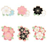 Pin Spille in smalto di fiori rosa per le donne Abito moda camicia cappotto demin in metallo spilla spilla badge promozione regalo 2021 nuovo design700 T2
